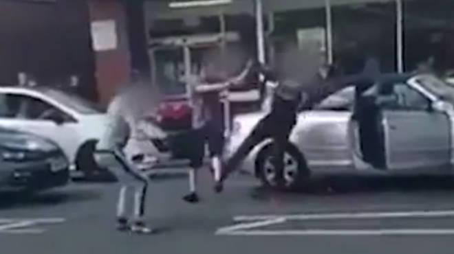 The road rage incident in Birmingham was caught on camera