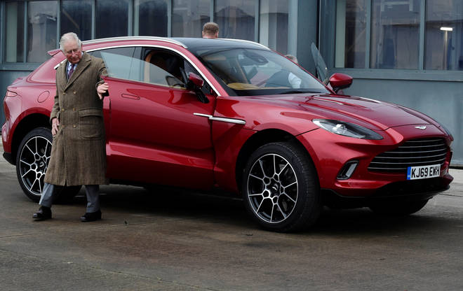 Charles will test drive Aston Martin's new SUV, which only does 20mpg