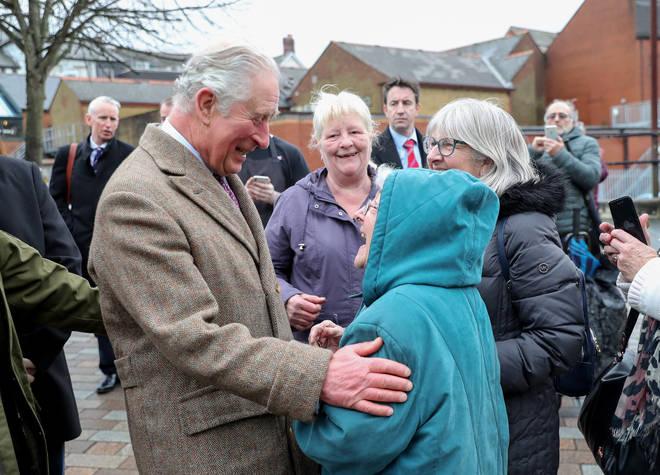 Prince Charles visited Pontypridd