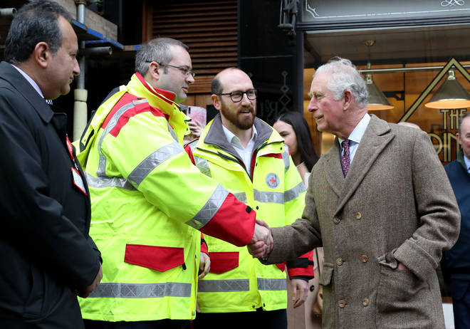 The Prince of Wales thanked emergency service workers