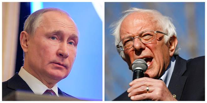 Vladimir Putin and Bernie Sanders