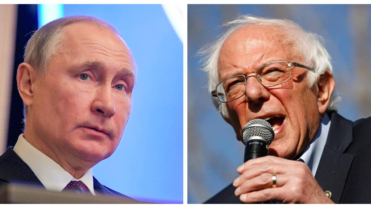Bernie Sanders tells Vladimir Putin 'stay out of American elections'