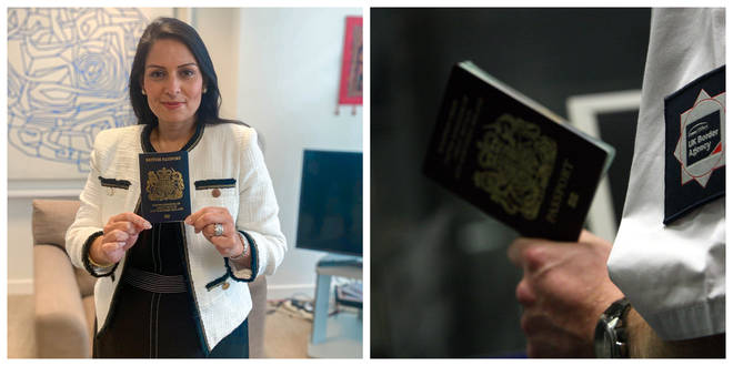 Blue passports will be issued from next month