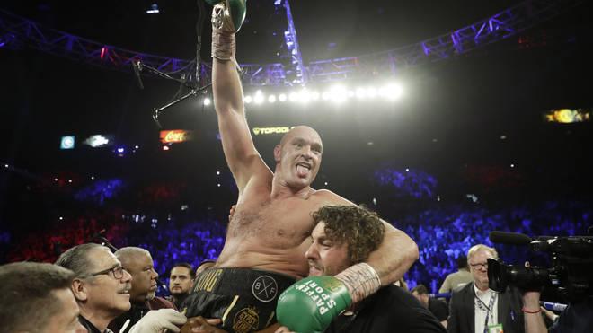 Tyson Fury beat Deontay Wilder to win a world heavyweight title belt