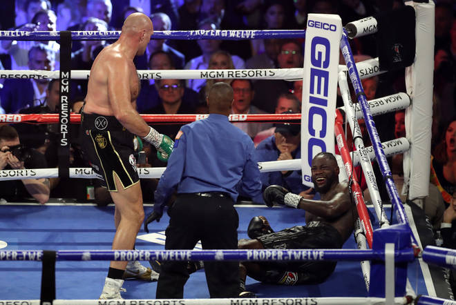 Fury knocked Wilder down twice in their historic rematch