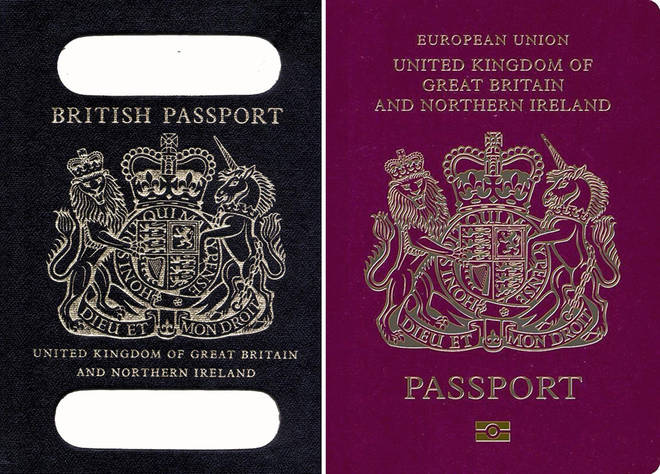 The old and new UK passports