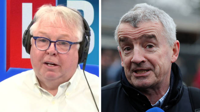Nick Ferrari insisted Michael O'Leary's comments were not racist