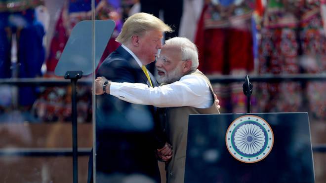 President Trump and India's Prime Minister Narendra Modi