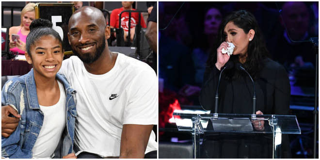 Kobe Bryant's widow has issued a public statement at a memorial for the basketball star