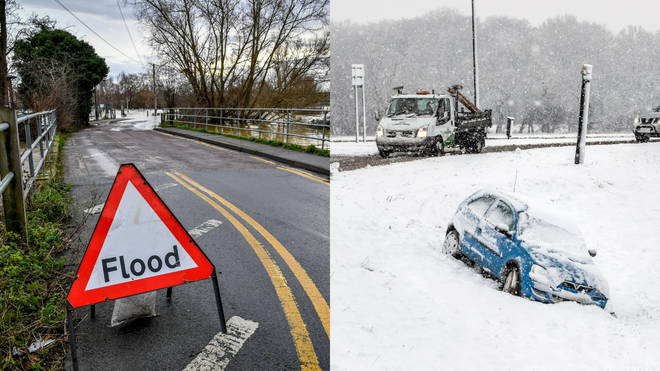 The Met Office is warning for snow and ice in some areas
