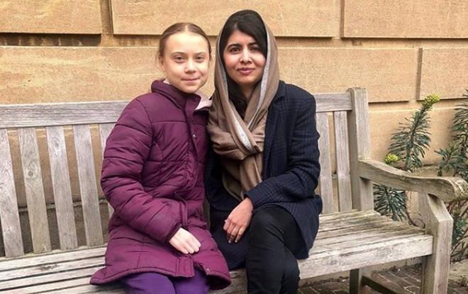 Malala, 22, took Greta, 17, on a tour of Oxford University