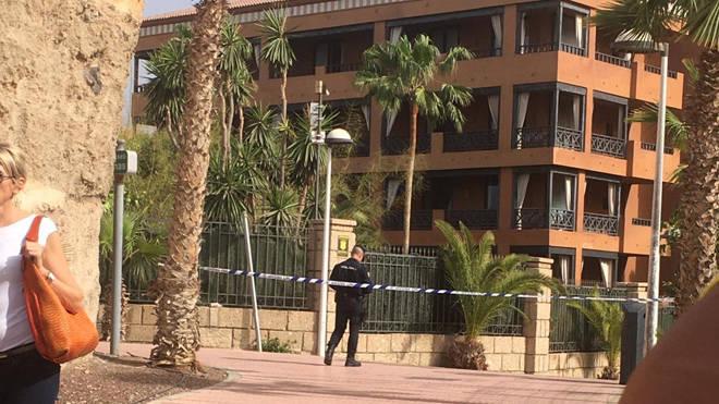 The hotel is under lockdown in Tenerife