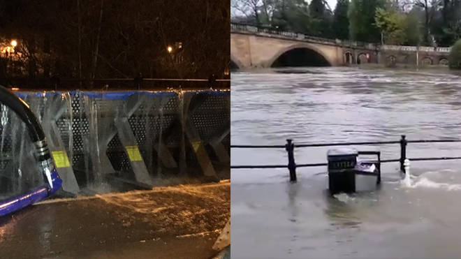 Flood defences have been breached overnight