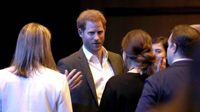 Prince Harry addressed the crowd at the event in Edinburgh