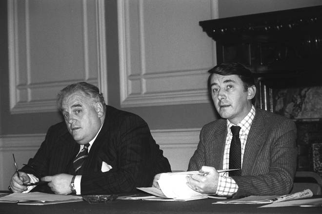 Cyril Smith (left) with Lord Steel who failed to report allegations, according to the report