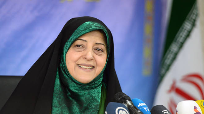 Iranian vice president for women and family affairs Masoumeh Ebtekar tested positive for coronavirus