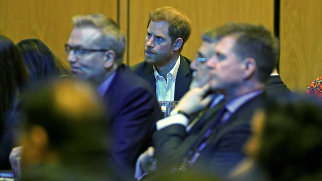 Prince Harry pictured at the conference in Edinburgh