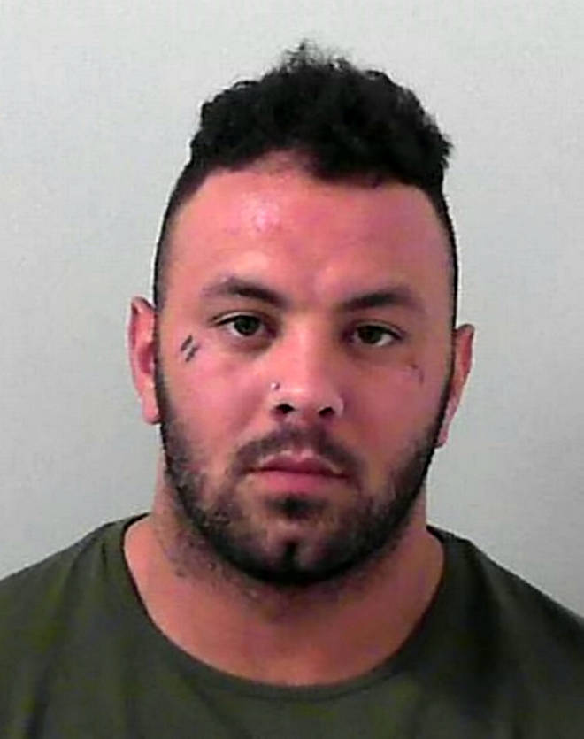 Peter Clark, 27, was jailed for two years after punching restaurant owner Detjon Prenci in the face.