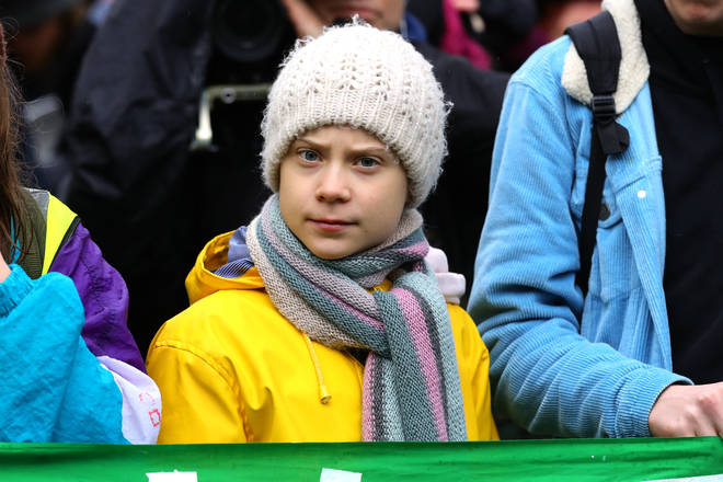 Thunberg spoke at a rally in Bristol on Friday
