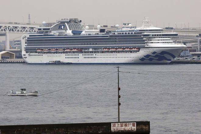 The Diamond Princess was quarantined off the Japanese coast