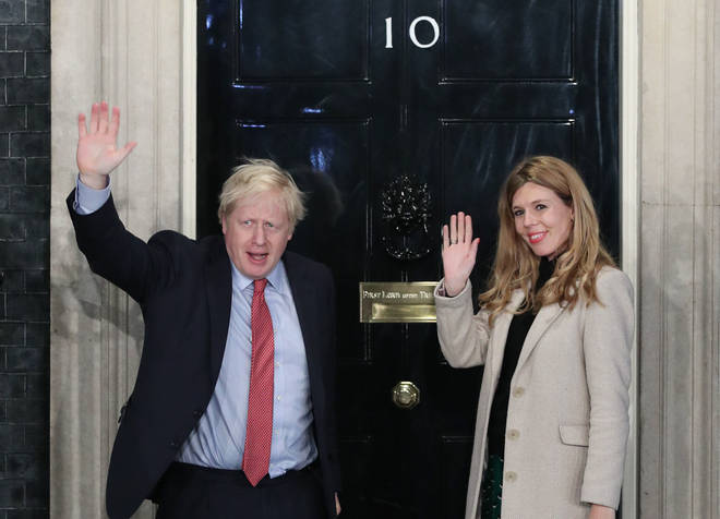 The PM announced his engagement and Carrie Symonds' pregnancy on Saturday