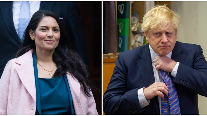 Boris Johnson has stood by Priti Patel amid allegations she bullied a senior civil servant