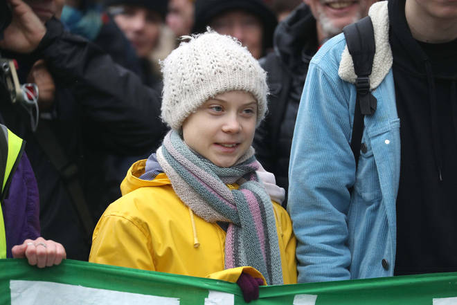 Greta Thunberg joined a climate march in Bristol