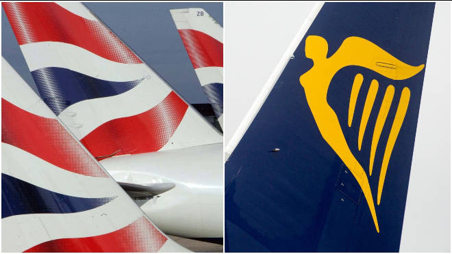 British Airways and Ryanair have been forced to cancel flights due to a drop in demand