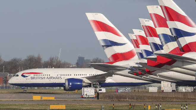 """British Airways said it had seen a """"reduced demand"""" due to the coronavirus outbreak"""