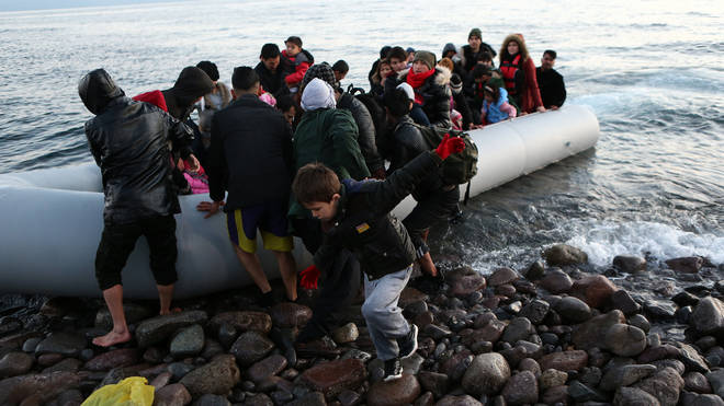 A four-year-old boy has died off the Greek coast after a dinghy carrying migrants capsized