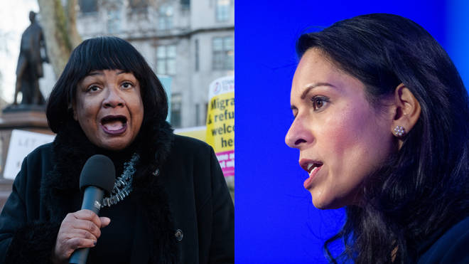 Labour's Shadow Home Secretary has called on Priti Patel to stand down