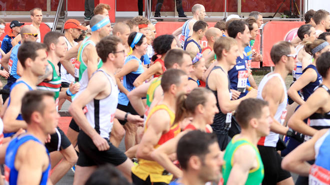 """File photo: Health Secretary Matt Hancock has said it is """"far too early"""" to cancel or restrict participation in the London Marathon"""
