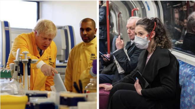Boris Johnson visited scientists trying to stop the spread of coronavirus