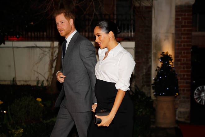 Meghan was heavily pregnant with Archie when the pair attended the awards last year