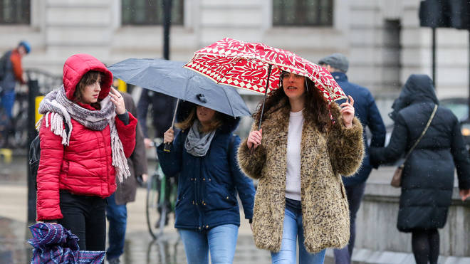 London and the South is set to be hit by more heavy rain