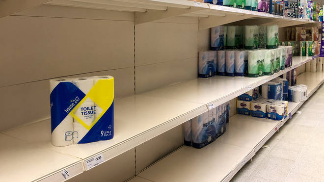 Pictures of empty supermarket shelves have flooded social media