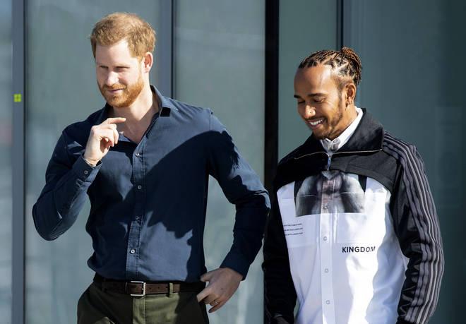 The Duke met with Lewis Hamilton
