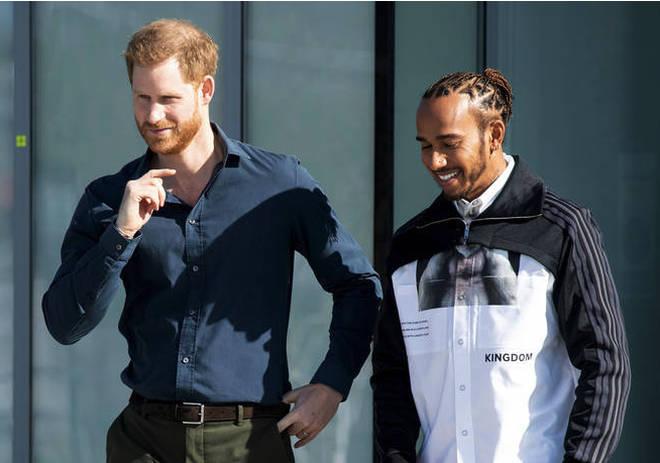 The Duke met with Lewis Hamilton.