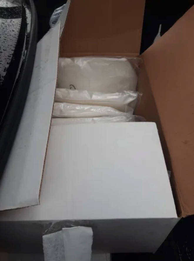 Police found the haul of drugs