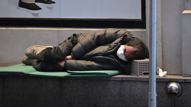 Homeless people are at a greater risk of catching coronavirus, charities warn