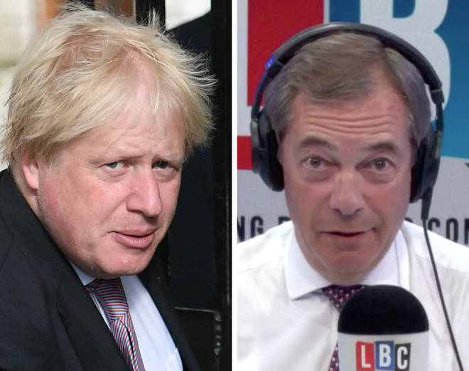 Nigel Farage thinks Boris Johnson is now more likely to be Tory leader