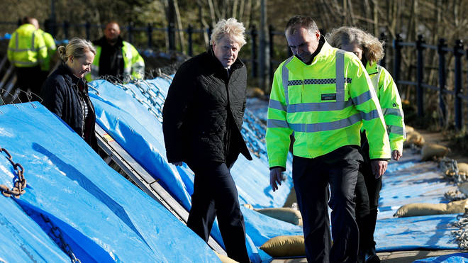 The Prime Minister was taken to see defences which protected the town of Bewdley from flooding
