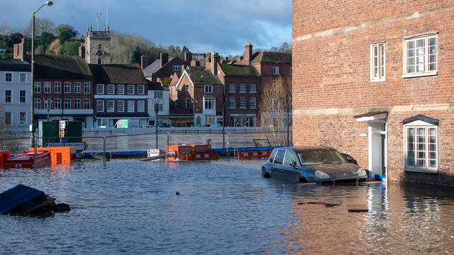 Bewdley was overwhelmed by the River Severn after recent heavy rainfall