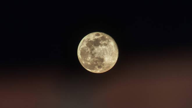 Last year's worm moon rises in Kashmir