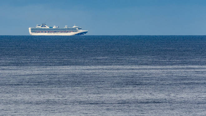 Grand Princess cruise ship is seen from Pacifica, California, United States, on March 8