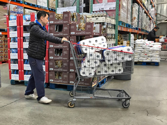 People have been bulk buying supplies