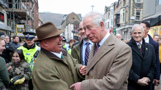 Charles visited flood-hit communities last month