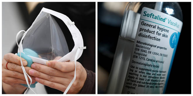 Limits are being put in place for the sale of hand sanitiser and face masks