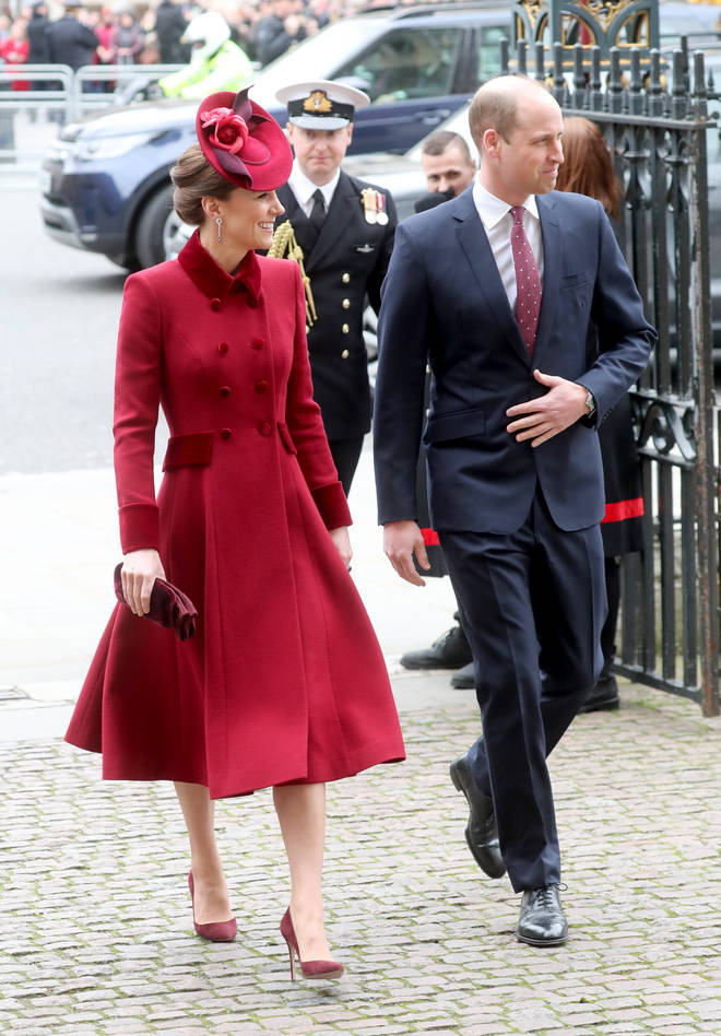 Kate and William arrived after the Sussexes
