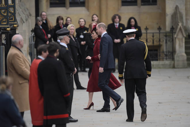 The Duke and Duchess of Cambridge were also not in the ceremony